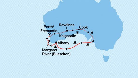 Best of Adelaide and Southern Australia with Sun Princess and Indian Pacific