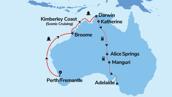 Top End and the Kimberley Coast with Sun Princess and The Ghan
