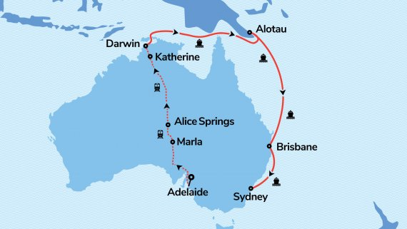 East Coast & Top End Explorer with Sun Princess & The Ghan