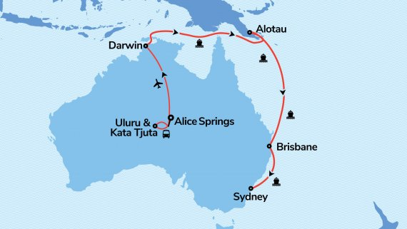 East Coast, Top End & Red Centre Explorer with Sun Princess