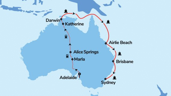 East Coast & Top End Explorer with the Voyager of the Seas & the Ghan