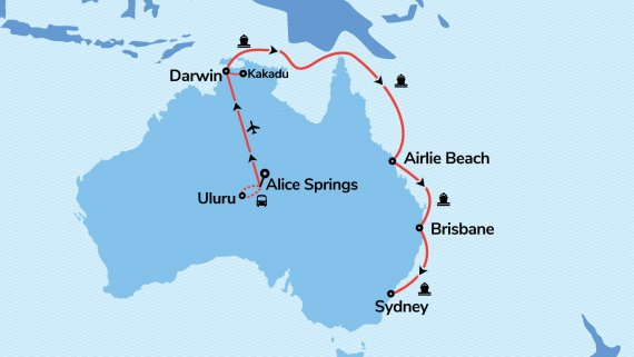 East Coast, Top End & Red Centre Explorer with Voyager of the Seas