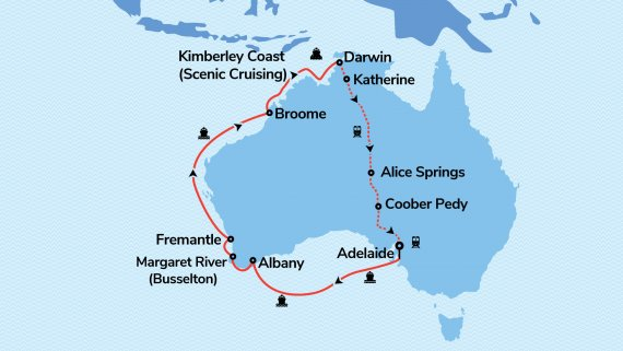 Southern Australia, Kimberley Coast and Top End Explorer with Sun Princess and The Ghan