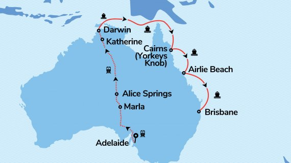 Top End and East Coast Explorer with Radiance of the Seas and The Ghan