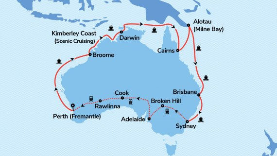 Top End Coast to Coast with Sea Princess & Indian Pacific
