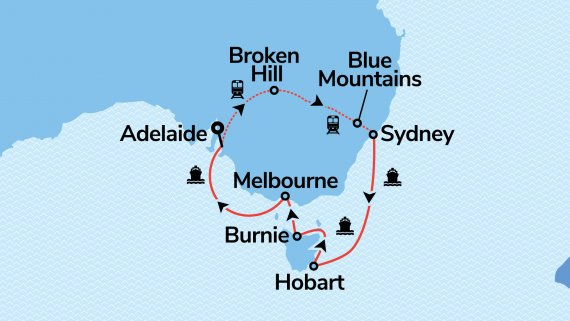 Southern Australia & Sydney with Indian Pacific & Sea Princess
