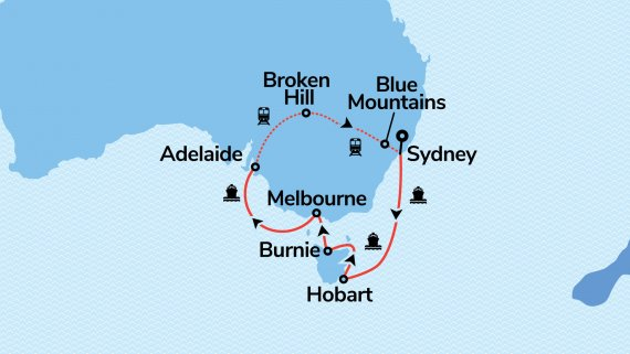 Southern Australia & Adelaide with Sea Princess & Indian Pacific