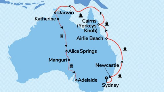 East Coast & Top End Explorer with Serenade of the Seas & The Ghan
