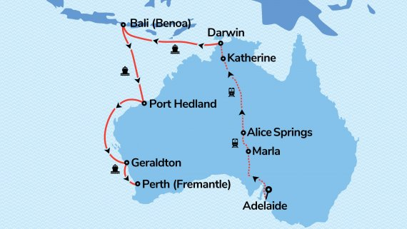 West Coast & Top End Adventure with Serenade of the Seas & The Ghan