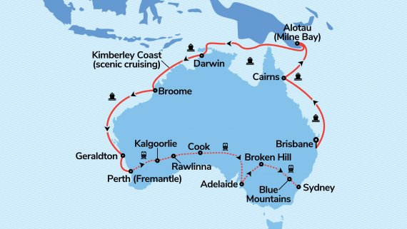 Top End Coast to Coast with Sun Princess & Indian Pacific