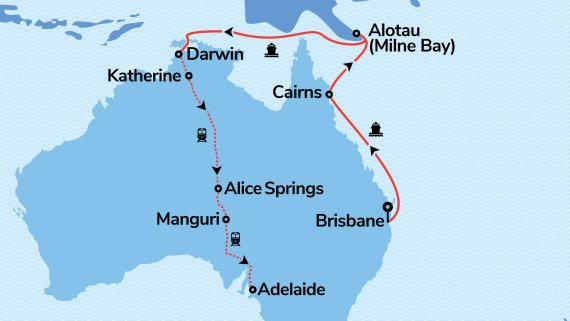 East Coast and Top End Explorer with Sun Princess and The Ghan