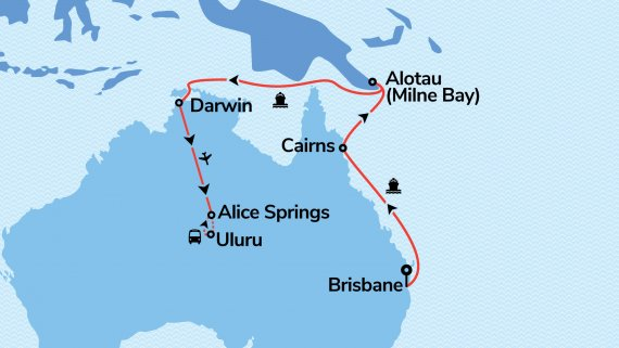 East Coast, Top End and Red Centre Explorer with Sun Princess
