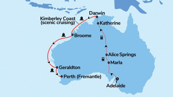 Top End and the Kimberley Coast with The Ghan and Sun Princess