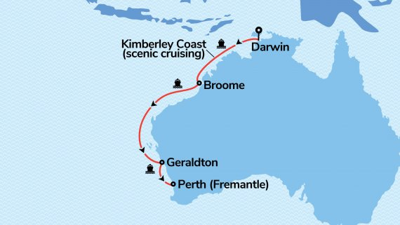 Top End and the Kimberley Coast with Sun Princess