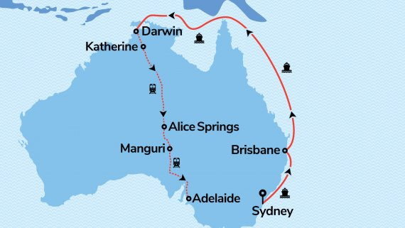 East Coast & Top End Explorer with Ovation of the Seas & The Ghan