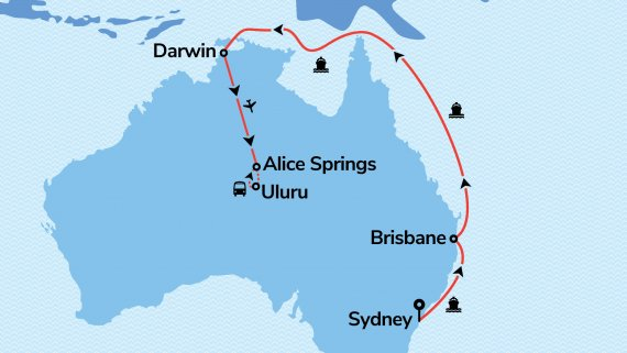 East Coast, Top End & Red Centre Explorer with Ovation of the Seas