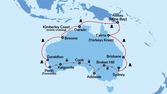 Top End Coast to Coast with Sapphire Princess & Indian Pacific ex SYD