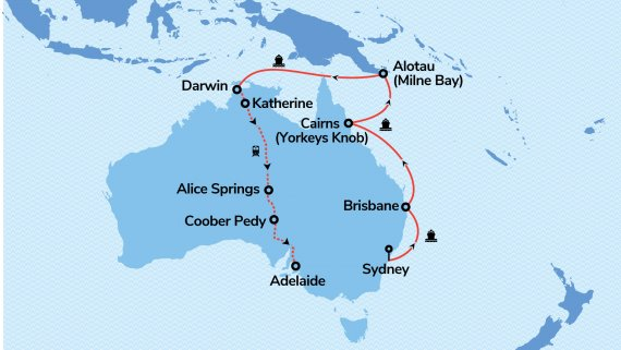 East Coast & Top End Explorer with Sapphire Princess & Ghan Expedition