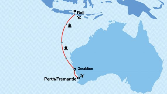 Bali to Fremantle, Perth Escape with Vasco da Gama