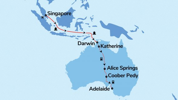 Orient to Outback with Voyager of the Seas & The Ghan