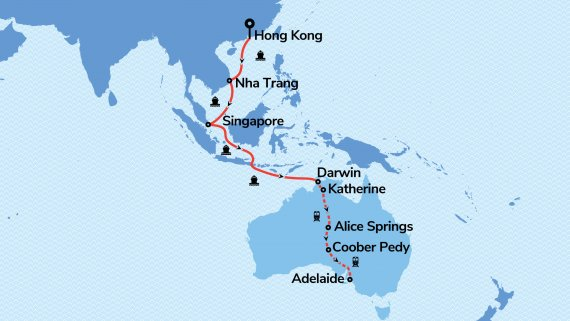 Orient to Outback with Voyager of the Seas and The Ghan Expedition