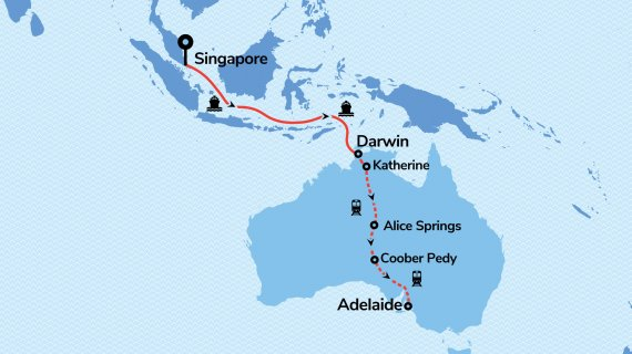 Orient to Outback with Radiance of the Seas & The Ghan