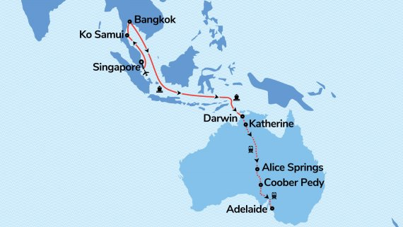Orient to Outback with Regal Princess & The Ghan