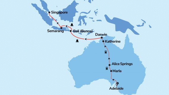 Top End to Orient with The Ghan and Vasco Da Gama