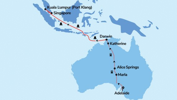Outback to Orient with The Ghan and Ovation of the Seas