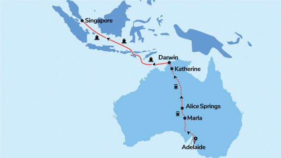 Outback to Orient with The Ghan and Voyager of the Seas