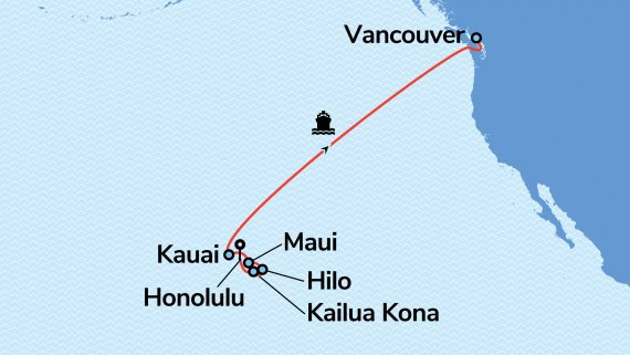 Hawaii to Canada Cruise & Stay Package
