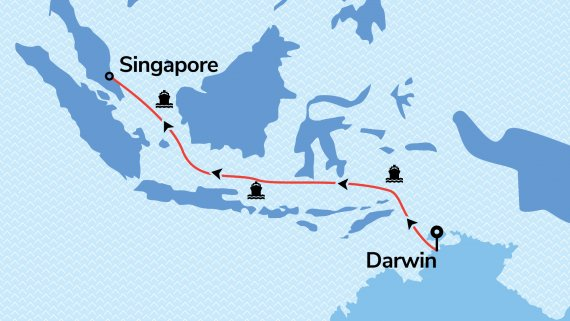 Darwin to Singapore with Voyager of the Seas