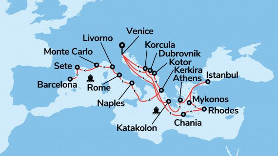 European Explorer from Rome to London with Enchanted Princess - Cruise Only