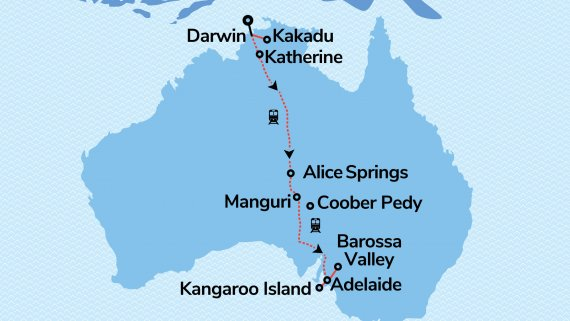 Outback to Island The Ghan Expedition