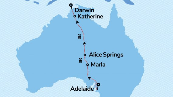 Alice Explorer with The Ghan