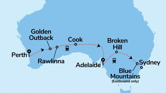 Indian Pacific Coast to Coast with Bonus Sydney Stay