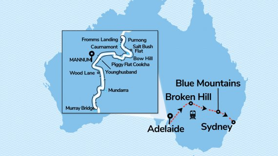 Murray Princess 3 Night Discovery Cruise with Indian Pacific