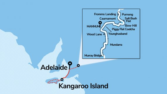 Murray Princess 3 Night Discovery Cruise with Kangaroo Island