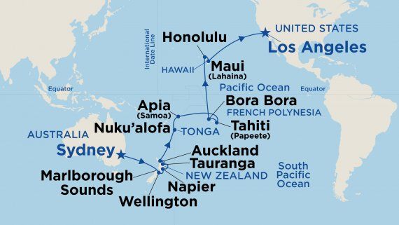 Hawaii, Tahiti & South Pacific Crossing with Golden Princess