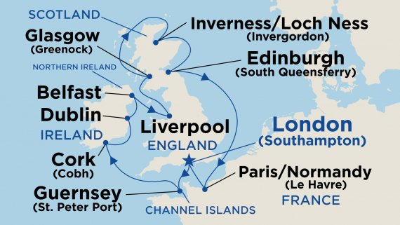 British Isles (with Liverpool) with Regal Princess