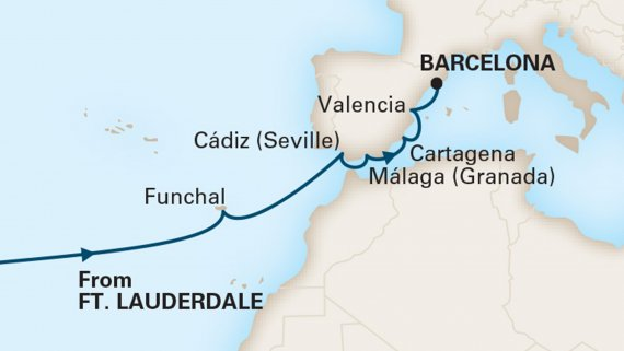 Passage to Spain with Zuiderdam