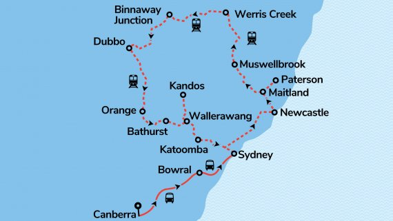 Golden West Rail Tour plus Canberra, the Southern Highlands & Sydney - 04FEB21